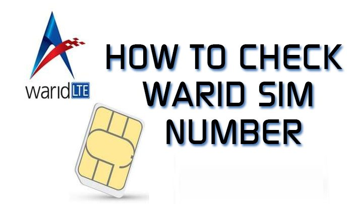 How To Check Warid SIM Number
