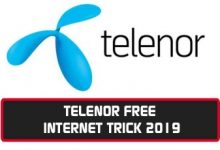 Telenor Free Internet Trick 2019