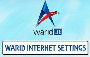Warid Internet Settings