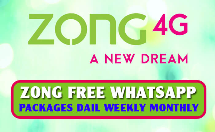 Zong Whatsapp Packages Free Daily 3 Days Weekly And Monthly 2020