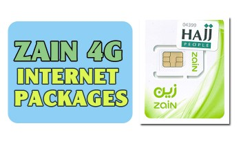 Zain Internet Packages 4g For Umrah Hajj With Activation Code 100