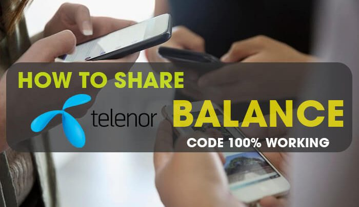 How To Share Telenor Balance