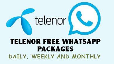 Telenor Free Whatsapp Packages