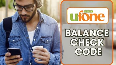 Ufone Balance Check Code