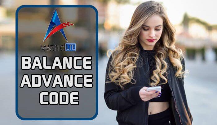 Warid Balance Advance Code