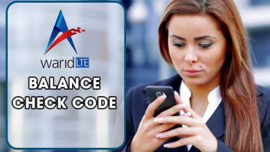 Warid Balance Check Code