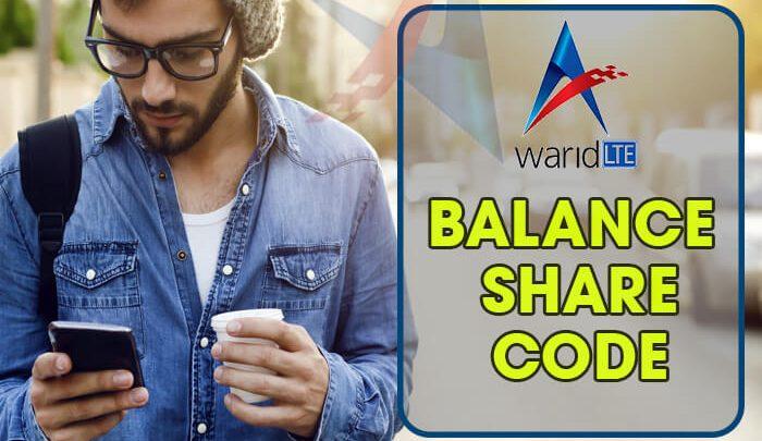 Warid Balance Share Code