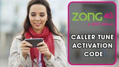 Zong Caller Tunes Code