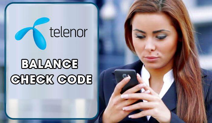 telenor Balance Check Code