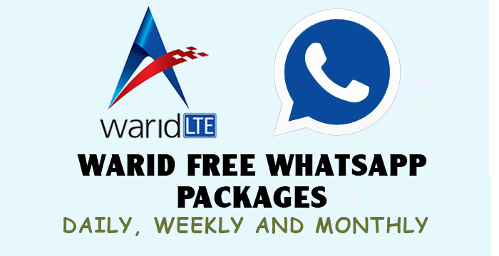 Warid Whatsapp Packages-Free, Daily, Weekly And Monthly With Code 2019