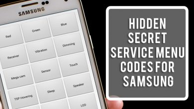 Hidden Secret Service Menu Codes for Samsung