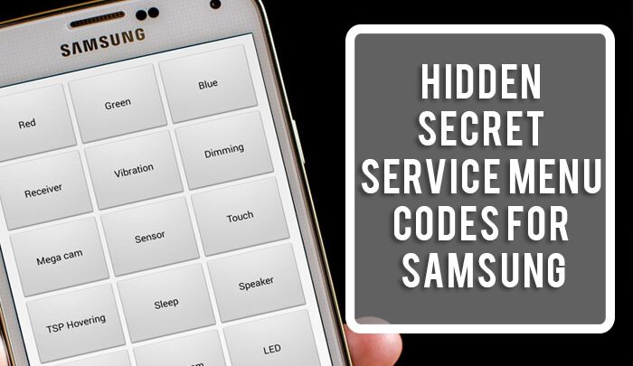 Hidden Secret Service Menu Codes for Samsung, Sony, LG, and