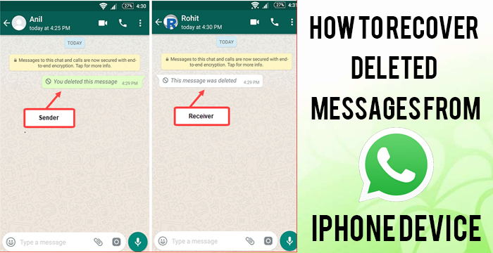 How To Recover Deleted Messages From WhatsApp on iPhone device