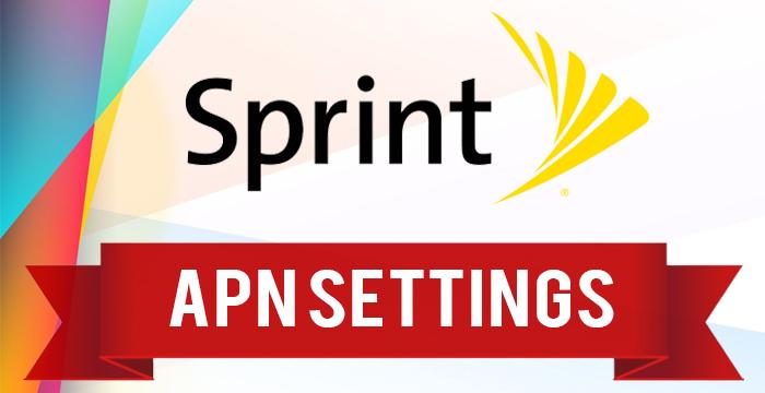 Sprint LTE 4G APN settings