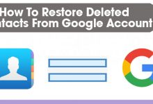 Restore Deleted Contacts