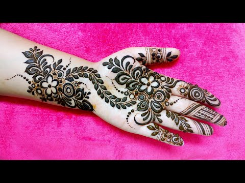 Tasmim Blog Arabic Simple Easy Front Hand Modern Mehndi Design