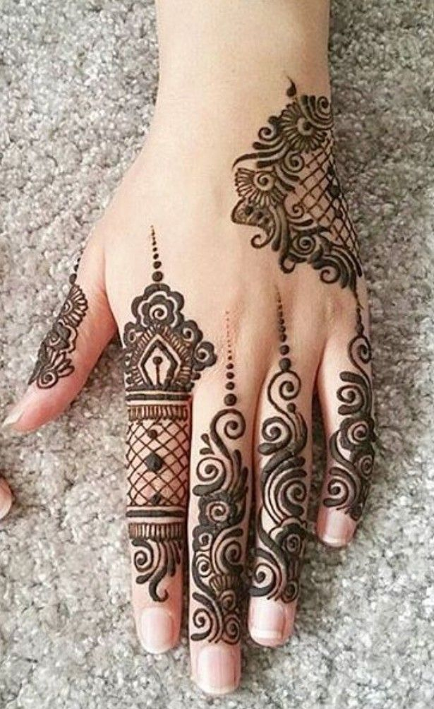 Indian Mehndi Designs For Fingers-4