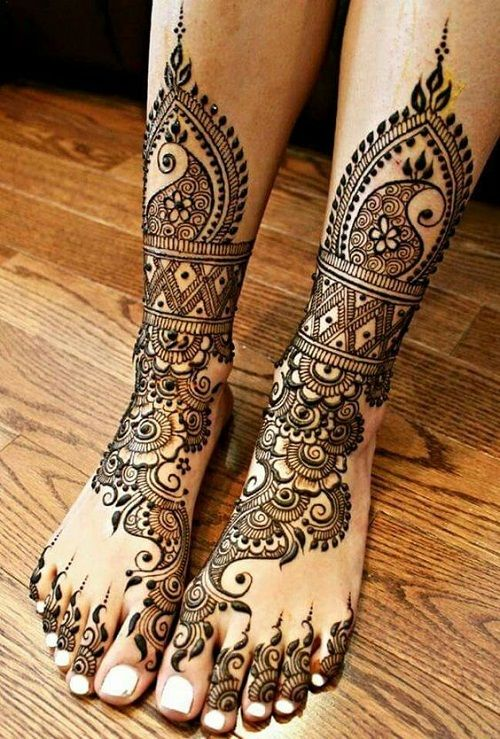 Indian Mehndi Designs for Feet-3