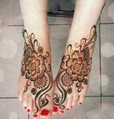 Mehndi Feet Designs For Her