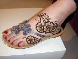 Mehndi Feet Designs For Kids