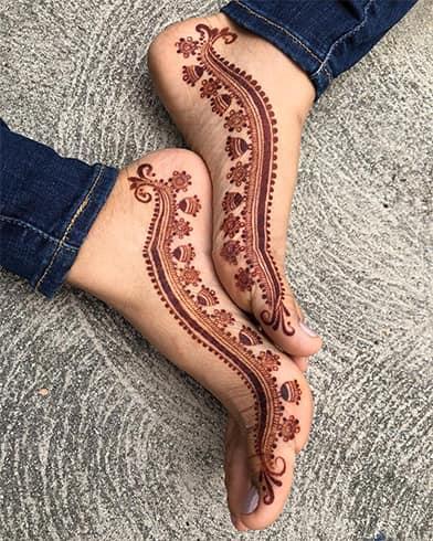 Mehndi Feet Designs for Him