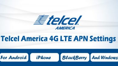 Telcel America 4G LTE APN Settings - For Android, iPhone, BlackBerry, And Windows