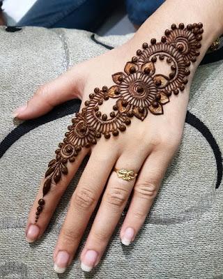 The Intricate Arabic Mehndi Designs Diagonal Arabic Mehndi Designs