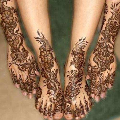 Turkish Mehndi Designs For Feet