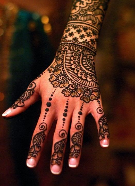 Turkish Mehndi For fingers