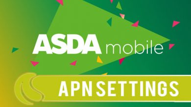 asda mobile apn settings