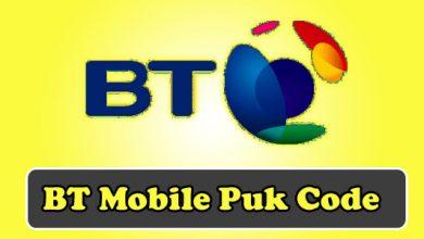 bt mobile puk code
