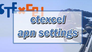 ctexcel apn settings