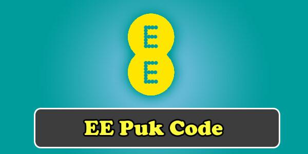ee puk code