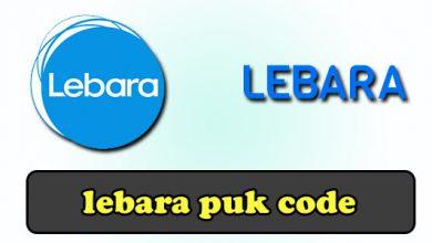lebara puk code