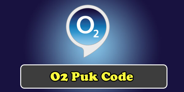 o2 puk code