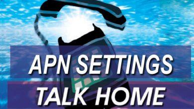 talk home apn settings