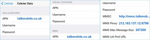 talk mobile apn for iphone