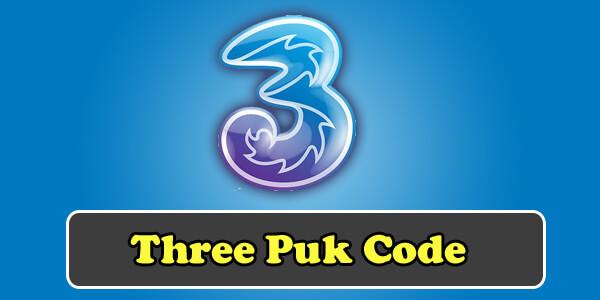 three puk code