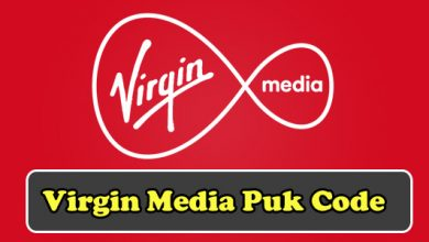 virgin media puk code