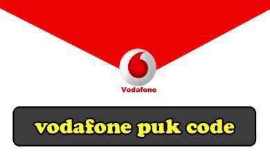 vodafone puk code