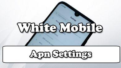white mobile apn settings