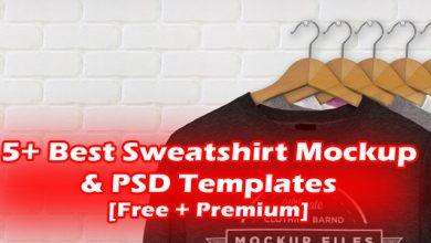 5+ Best Sweatshirt Mockup & PSD Templates [Free + Premium]