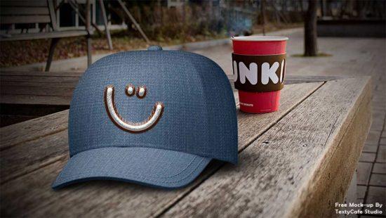 Free Dad Hat Mockup Templates PSD-1
