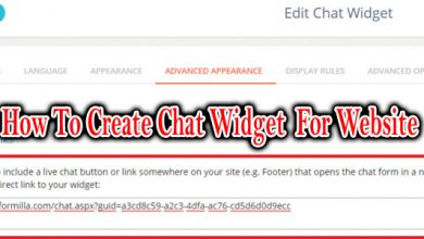 How To Create Chat Widget For Website
