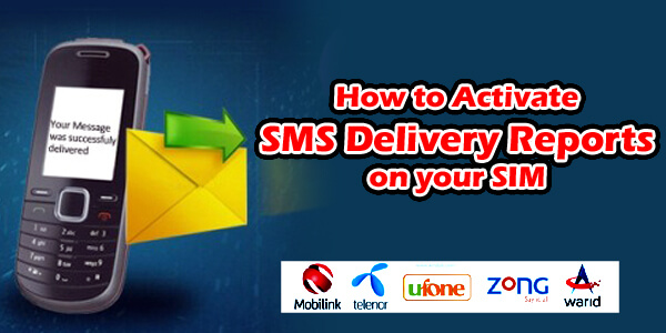 How to Activate SMS Delivery Reports on your SIM