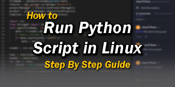 How to Run Python Script in Linux Step By Step Guide