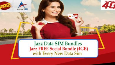 Jazz Data SIM Bundles –Jazz FREE Social Bundle (4GB) with Every New Data Sim