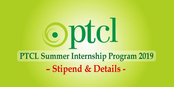 PTCL Summer Internship Program 2019 – Stipend & Details