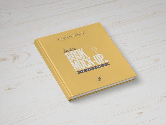 Square Book PSD Mockup