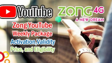 Zong YouTube Weekly Package Activation,Validity, Price, and Eligibility